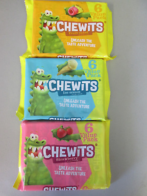 6 To 24 Rolls Chewits Fruit Salad Ice Cream Flavour Strawberry Vimto Flavours   • 3.39£
