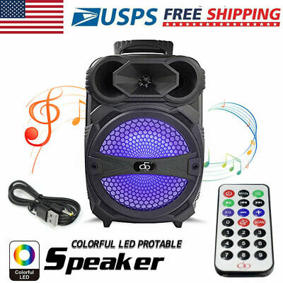 $33 • Buy 8  Party Bluetooth Speaker 1000 Watts System Led Portable Stereo Tailgate Loud