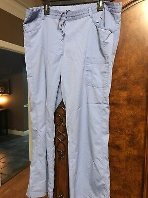 $15 • Buy NrG By Barco, Womens Scrub Pants, XL, Ceil Blue, Worn Once