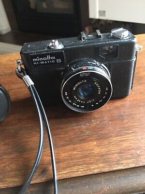 $ CDN12.99 • Buy Vintage Minolta Hi-Matic 5 Point & Shoot Camera Rokkor 1:2.7 F=40mm Great Shape