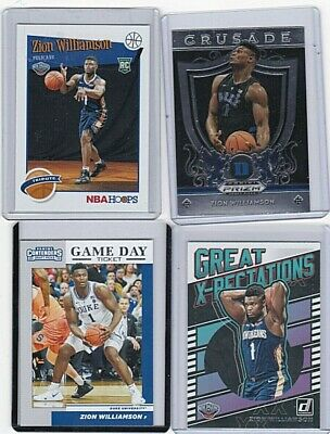 $22 • Buy 2019 -20 Zion Williamson Rookie 4 Card Lot. Crusade, Gameday, Xpectation, Hoops.