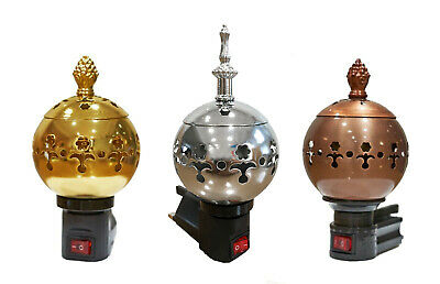 Electric Incense 3 Pin Plug Wireless Bakhoor Burner Oud Oudh Gold,Silver, Bronze • 14.99£