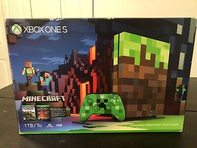$499 • Buy Microsoft Xbox One S Minecraft Limited Edition Bundle 1TB Green & Brown Console