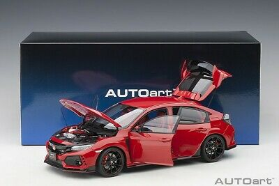 AU272.50 • Buy Autoart HONDA CIVIC TYPE R (FK8) FLAME RED COMPOSITE 1/18 Scale New Release