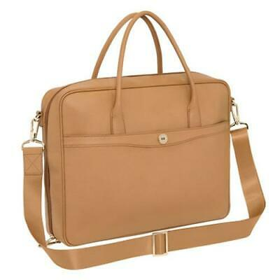AU51 • Buy New Oroton Melanie Tan Caramel Leather Womens Briefcase Satchel Handbag Rrp $595