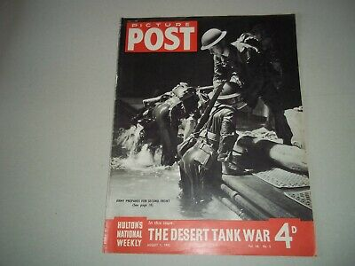 Picture Post Magazine 1 August 1942  Desert Tank War  Ballet Dancer • 6.50£
