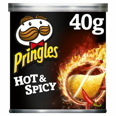 Pringles Hot & Spicy Crisps, 12 X 40g, No.1 Fastest Growing Brand* • 11.99£