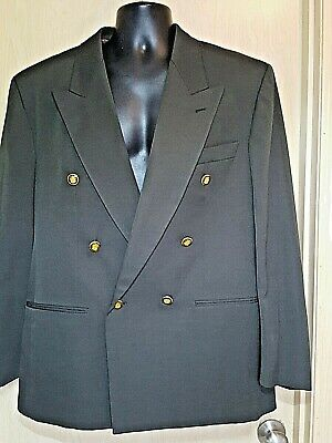 $12 • Buy Circola Moda Olive Green Double-breasted Suit Jacket Mens 42R Crest Buttons Vtg