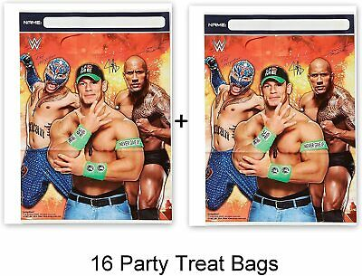 WWE Wrestlng Party Favor Bags Loots Birthday Boy Decoration Supplies 16 PIECES • 9.16£