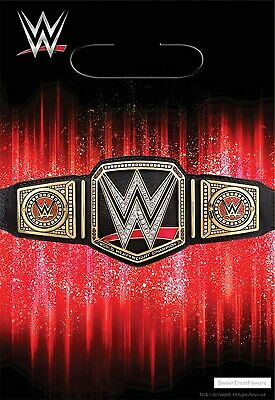 WWE Party Bags Wrestlng Favor Loots Birthday SMASH Decoration Supplies 8 PIECES • 3£