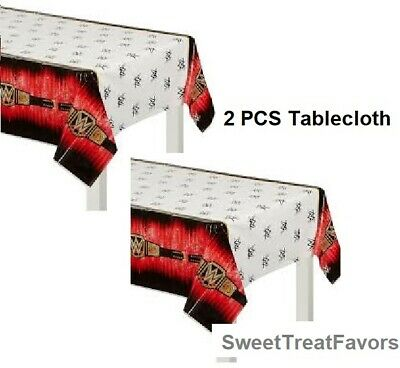 WWE Party TABLECLOTH  Wrestlng Birthday SMASH TABLECOVER Boy Decoration 2 PIECES • 12.88£