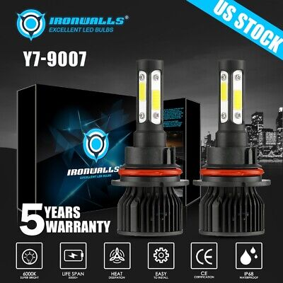 $29.99 • Buy 6-sides 9007 LED Headlight Hi/Lo Bulbs For Ford F-150 1992-2003 F-250 1992-1999