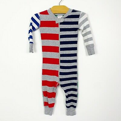 $19.99 • Buy Hanna Andersson Infant Baby Sleeper One Piece Pajamas Mix It Up Stripe 75 12-18