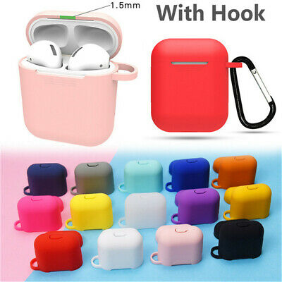 $ CDN3.41 • Buy AirPods Silicone Case Protective Cover + KeyChain For Apple AirPod Charging Case