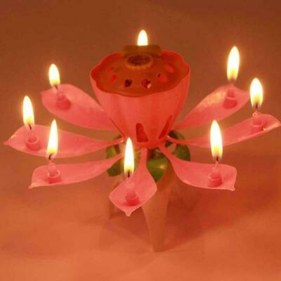 $ CDN2.43 • Buy 1pc Lotus Flower Candle Musical Blossom Candles Happy Party Gift Birthday