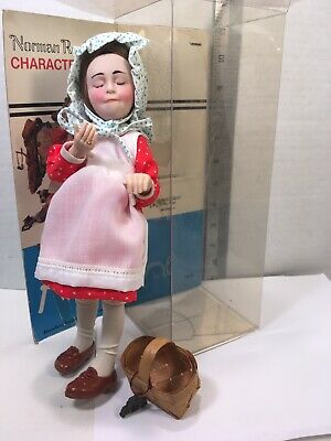 $35 • Buy NORMAN ROCKWELL CHARACTER DOLL, ANNE, 10  W/ Box And Basket EUC