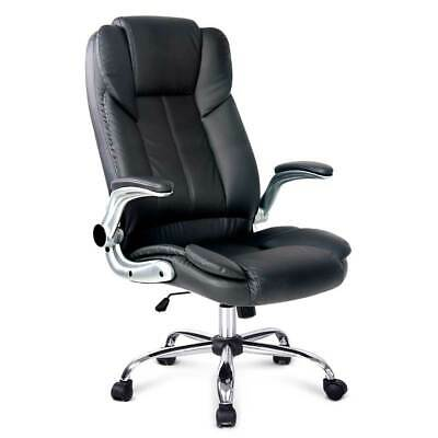AU174.94 • Buy Artiss Executive Office Desk Chair Gaming Computer Chairs Leather Seating Black