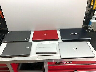 $ CDN150.18 • Buy STORAGE LOCKER FINDs! AS-IS  FOR PARTS ONLY LOT OF 6 Laptops UNTESTED