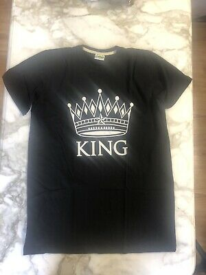 $13.25 • Buy King T-shirt Mens Graphic Tee Crown Design Black XL 6A09