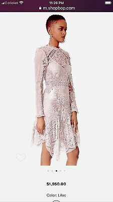 $239.99 • Buy ZIMMERMANN Stranded Lace US Size 2 Orig. $1900 NWT Lilac