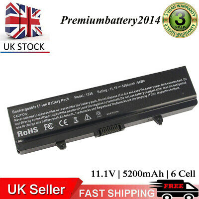 6 Cell Laptop Battery For Dell Inspiron 1525 1526 1545 1546 GW240 X284G RN873 UK • 12.99£