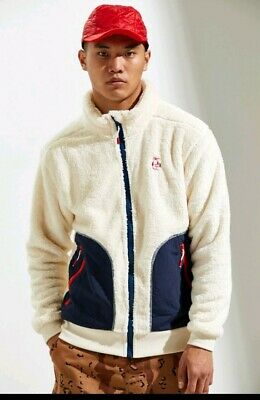 $69.99 • Buy NEW Men's CHUMS Ivory Elmo Fleece Full Zip WARM Jacket L Urban Outfitters $129