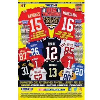 $25 • Buy 2020 Tristar Football Autograph Jersey 5 Box Full Case Random Team Break #1