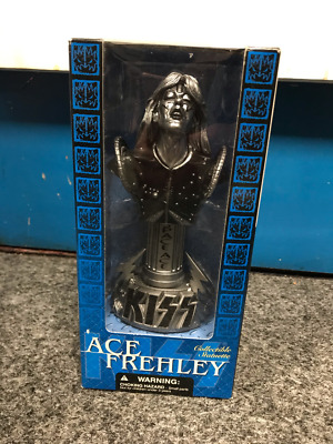 Kiss Ace Frehley McFarlane Toys Collectible Statuette Rare Pewter-Washed 2002  • 17£