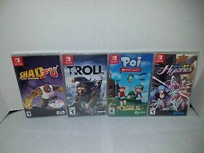 $64.99 • Buy Lot Of 4 Brand New Factory Sealed Nintendo Switch Games Troll SNK Shaqfu Poi New