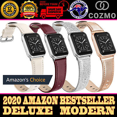 AU6.25 • Buy For Apple Watch Band Series 5 4 3 2 1 IWatch Genuine Leather Strap 38 40 Deluxe