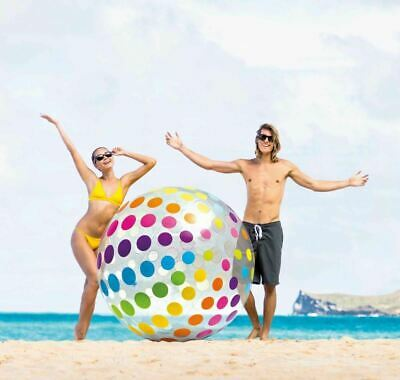 Large Intex Inflatable Giant Jumbo Beach Playing Ball Pool Volleyball Summer • 6.94£