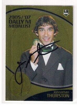 AU17 • Buy Signed Johnathan Thurston Cowboys 2005/07 Dally M Medallist Nrl Player Card Rare