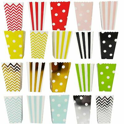 Mini Popcorn Bucket Treat Boxes - Party Loot Sweety Bags Party Favour Large Kids • 2.99£