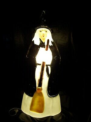 $65 • Buy Vintage Empire 39  Halloween Witch With Broom LIGHTED Blow Mold Made In The USA