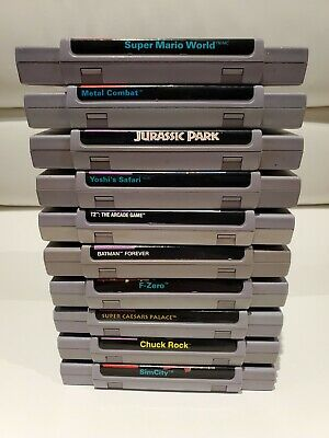 $ CDN174.99 • Buy Lot Of 10 Super Nintendo SNES Games - Mario World, Yoshi, Terminator, Batman