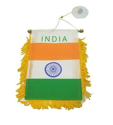 $6.98 • Buy India Indian Mini Banner Flag Car Home Window Rearview  Hinduism Buddhism Gift