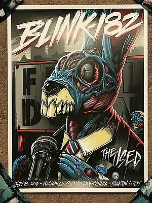 $119.99 • Buy Blink-182 The Used Show Concert Canada They Live Obey Print Poster Mondo Maxx242