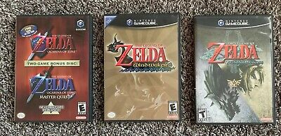 $90 • Buy Zelda GameCube Collection - Windwaker - Twilight Princess - Ocarina Of Time