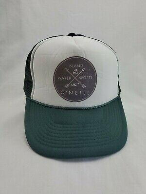 $19.99 • Buy Vintage O'neill Island Water Sports Trucker Snapback Mesh Hat Cap Green New Otto
