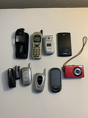 $ CDN141.43 • Buy Lot Of 7 Old Vintage Used Cell Phones & Camera