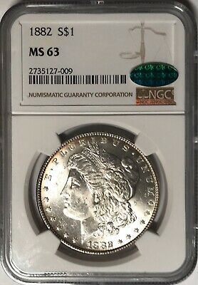 $34 • Buy 1882 Morgan Silver Dollar - MS63 NGC/CAC