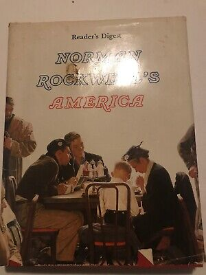 $ CDN9.89 • Buy Norman Rockwell's America COFFEE TABLE BOOK Beautiful Fold-out Photos HARDCOVER