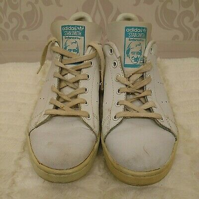 $ CDN60 • Buy Vintage 80s Adidas Stan Smith Womens US 6.5 Tennis Shoes Sneakers White Blue