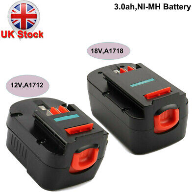 3.0AH Replace Battery For Black&Decker 12V(A12 A12-XJ A1712 ), Or 18V(A18 A1718) • 22.88£