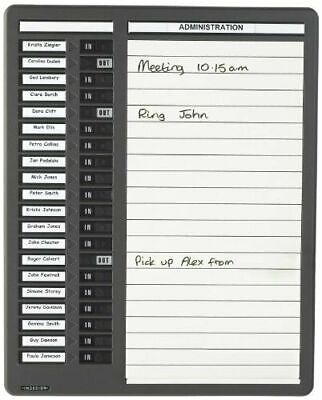 £88 • Buy Indesign Wpitdw20 In/Out Drywipe Board 20 Names - Grey