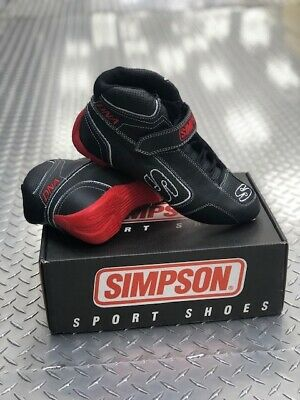 $199.95 • Buy Simpson DNA Racing Shoes DA850W, Black/White/Red, Size US 8.5