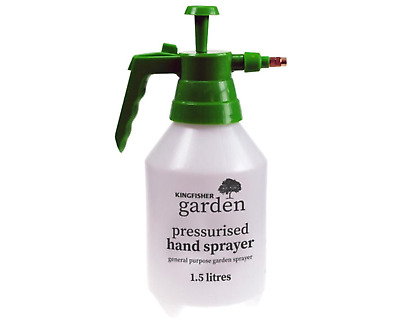 1.5L Garden Pressure Spray Bottle – Portable Hand Pump Sprayer – Weed Chemical • 6.99£