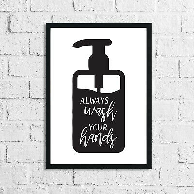Bathroom Prints Wall Art Poster Funny Humour Home Toilet Pictures Modern Minimal • 3.50£