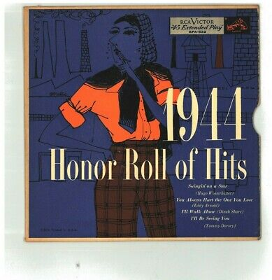 $6.99 • Buy HONOR ROLL OF HITS 1944 ...45 RPM EP RECORD...EJ RCA Victor EPA-532