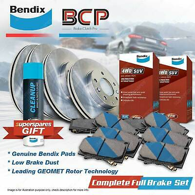AU328.25 • Buy Front + Rear BCP Brake Rotors Bendix 4WD Pads For Jeep Grand Cherokee ZJ 4.0L